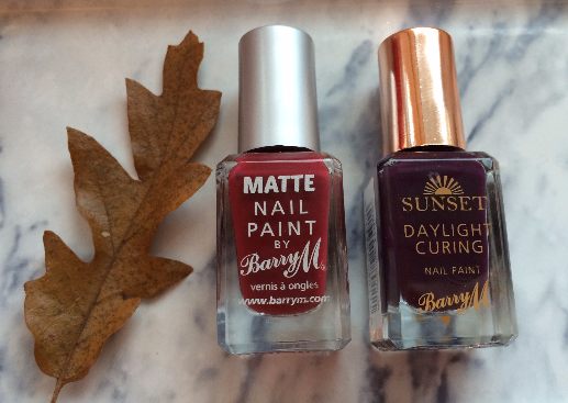 Autumn nail colours by Barry M – Sunset Daylight Curing and Matte Nail Paint