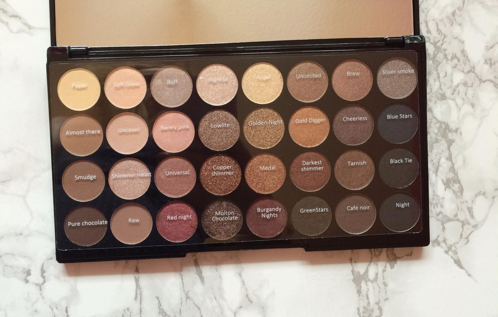 makeup revolution flawless palette shades