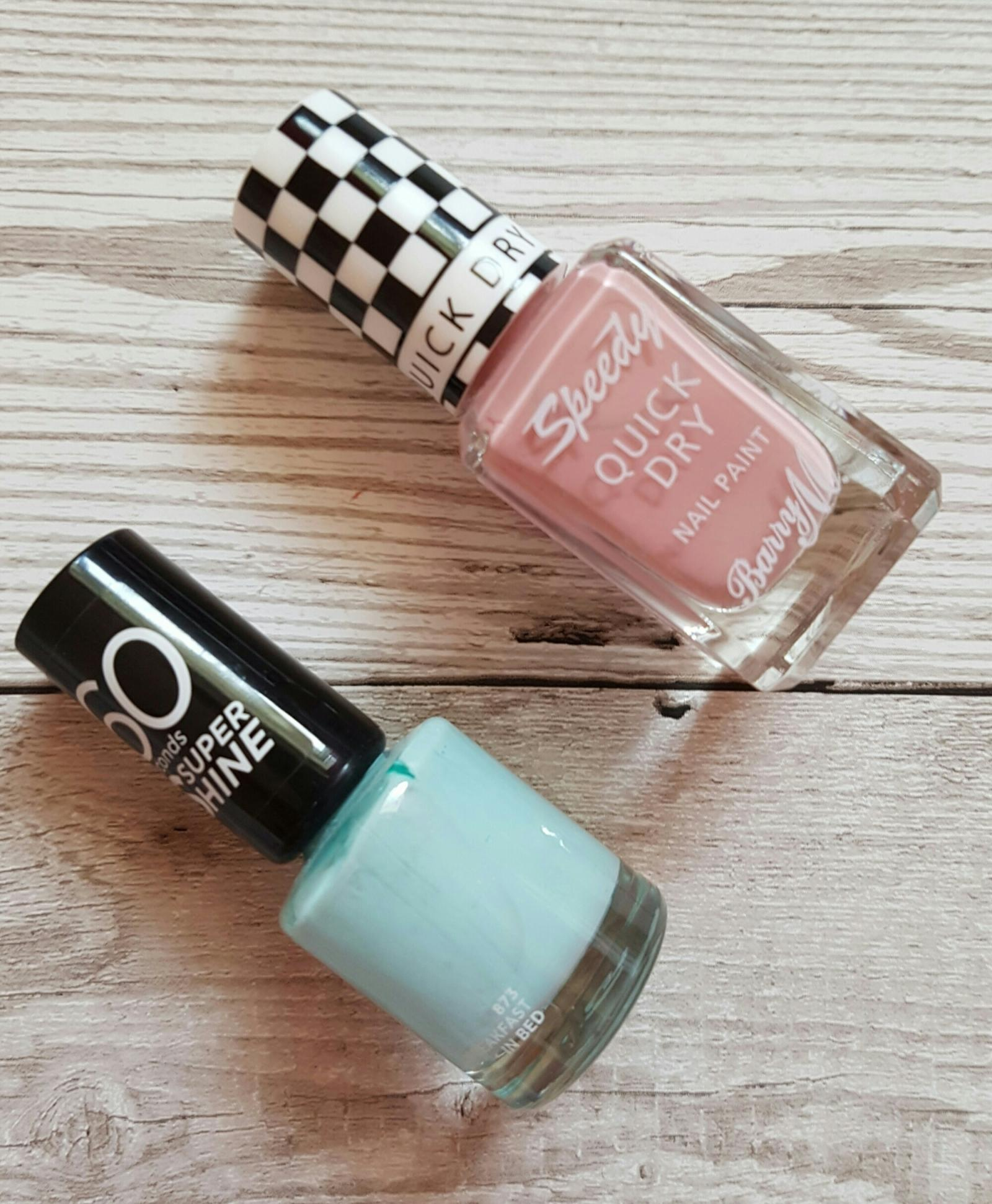 spring beauty edit nail varnish barry m speed dry freestyle rimmel 60 seconds breakfast in bed