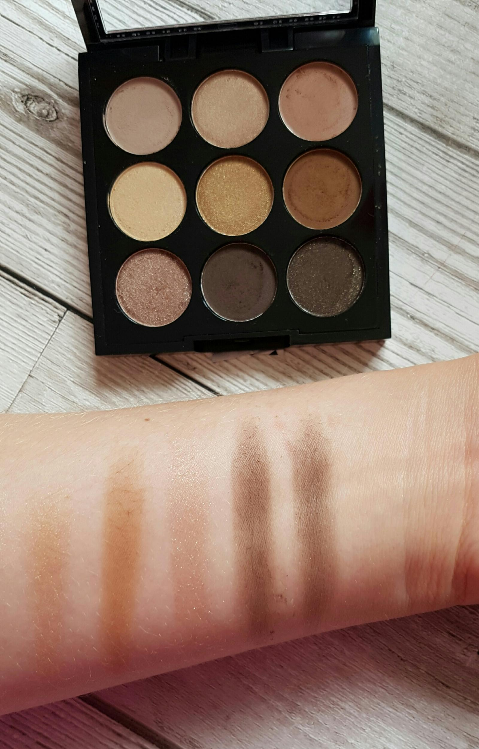 mac amber times nine palette dupe w7 the naughty nines