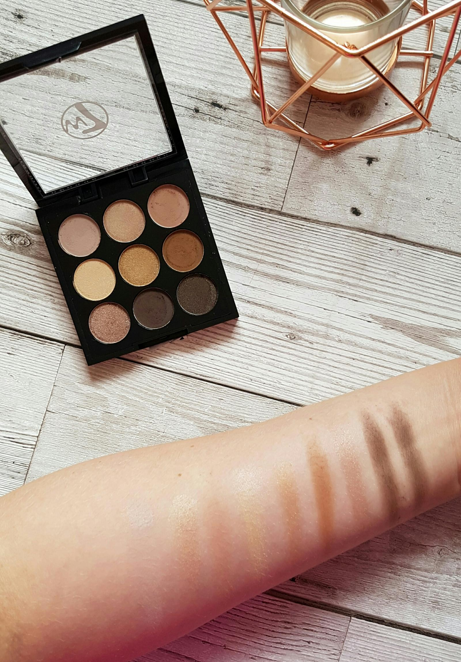 W7 naughty nines palette dupe for mac amber times nine palette
