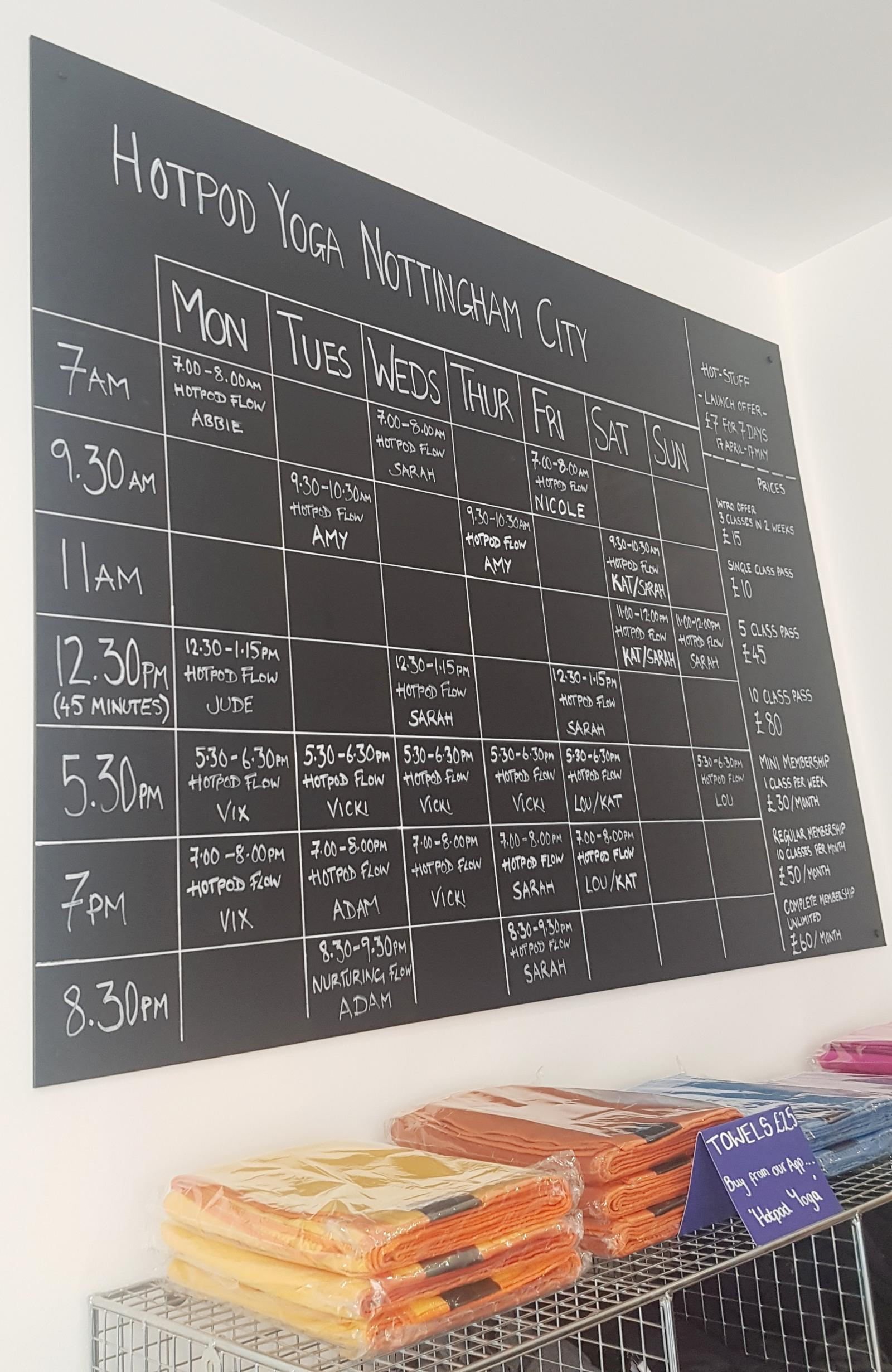 Hot pod yoga nottingham timetable