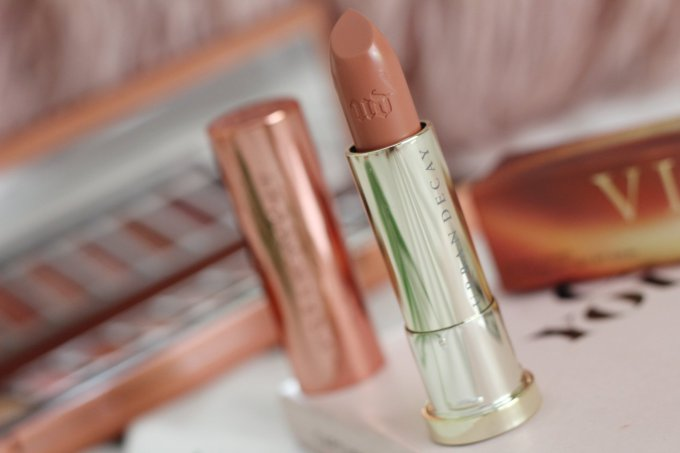 Urban Decay Heat Vice Lipstick in Fuel Review and Swatched