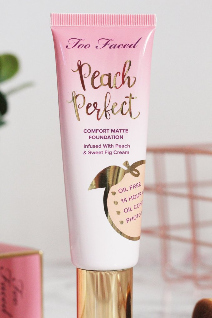 Too Faced Peach Perfect Comfort Matte Foundation Bottle