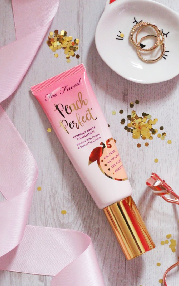 Too Faced Peach Perfect Comfort Matte Foundation Favourites