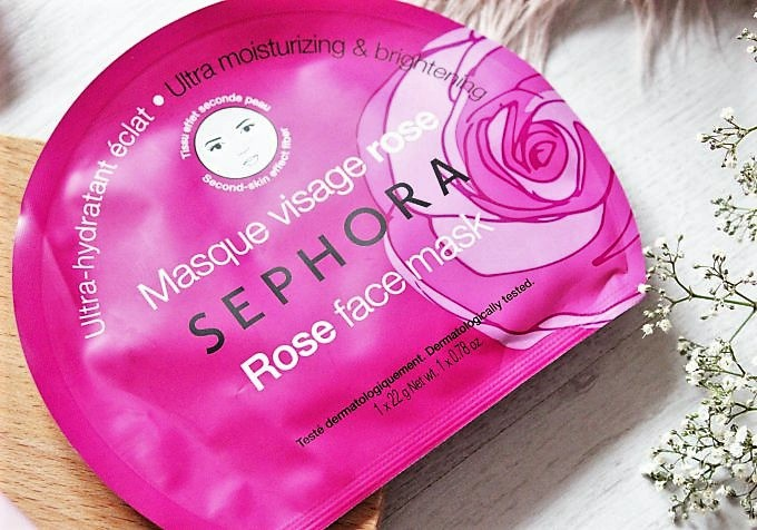 Four Sephora Face Masks Tried and Reviewed - Sephora Rose Sheet Face Mask (2)