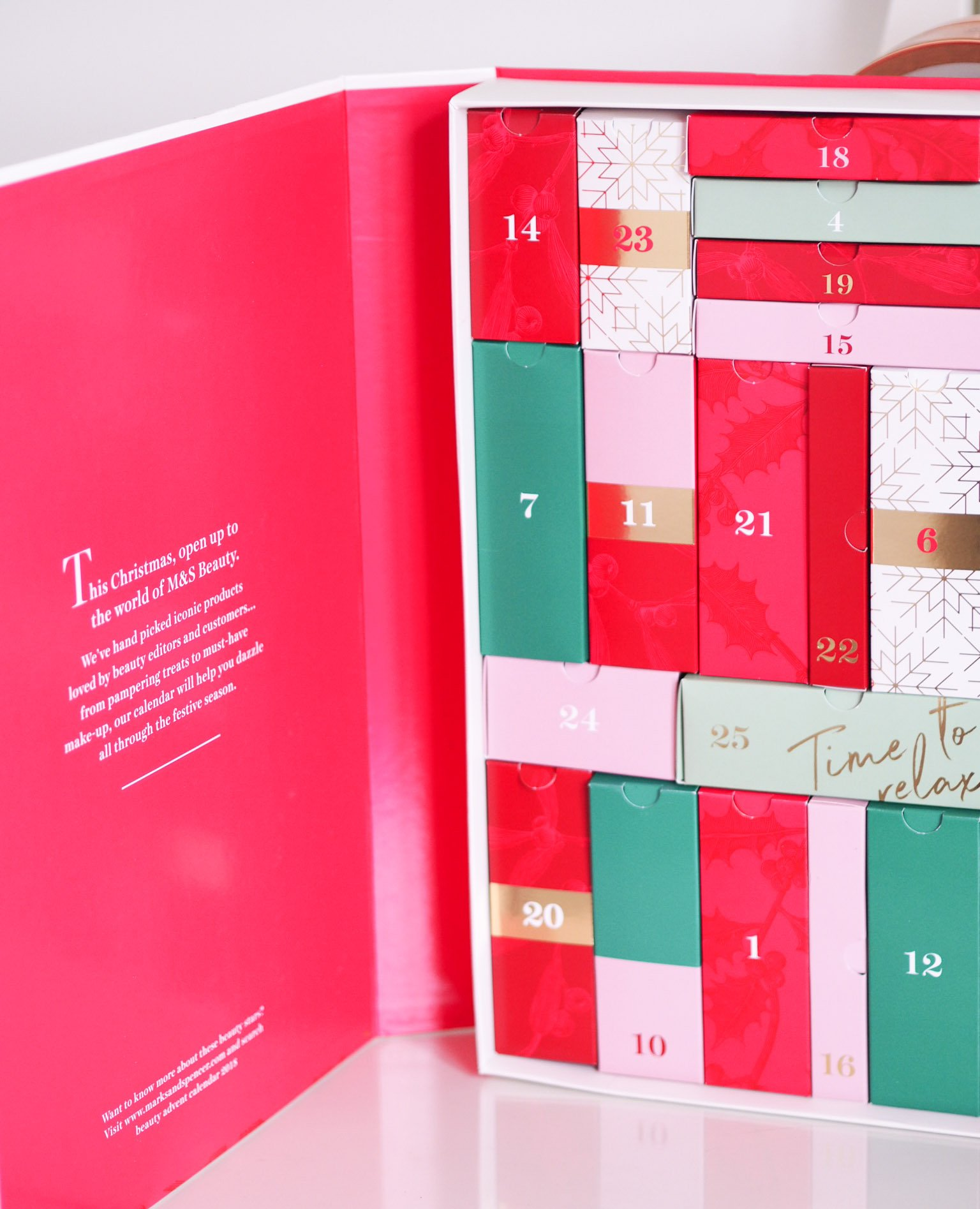 Marks and Spencer Beauty Advent Calendar 2018 – The Book of Beauty