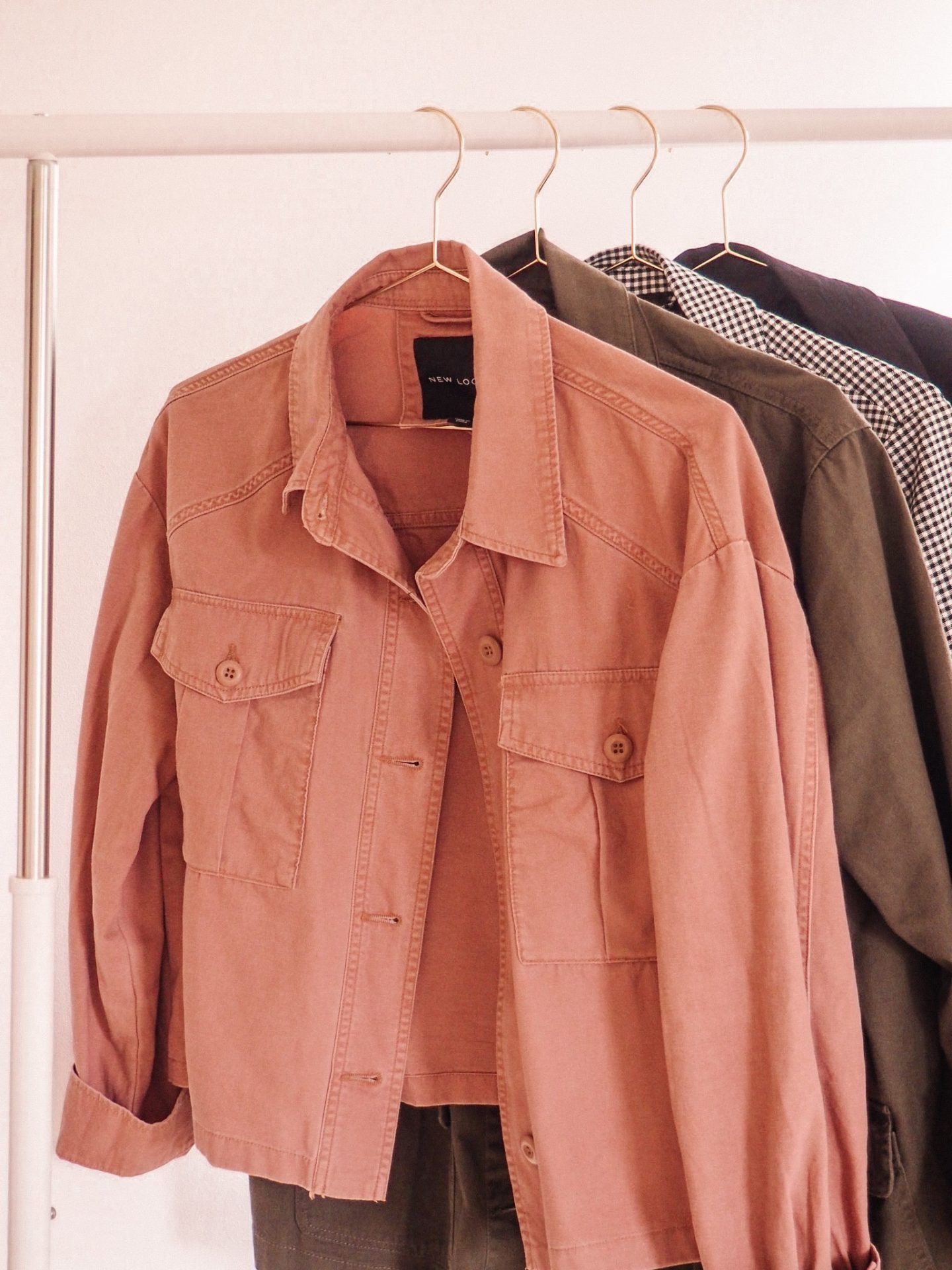 New Look cropped pink jacket