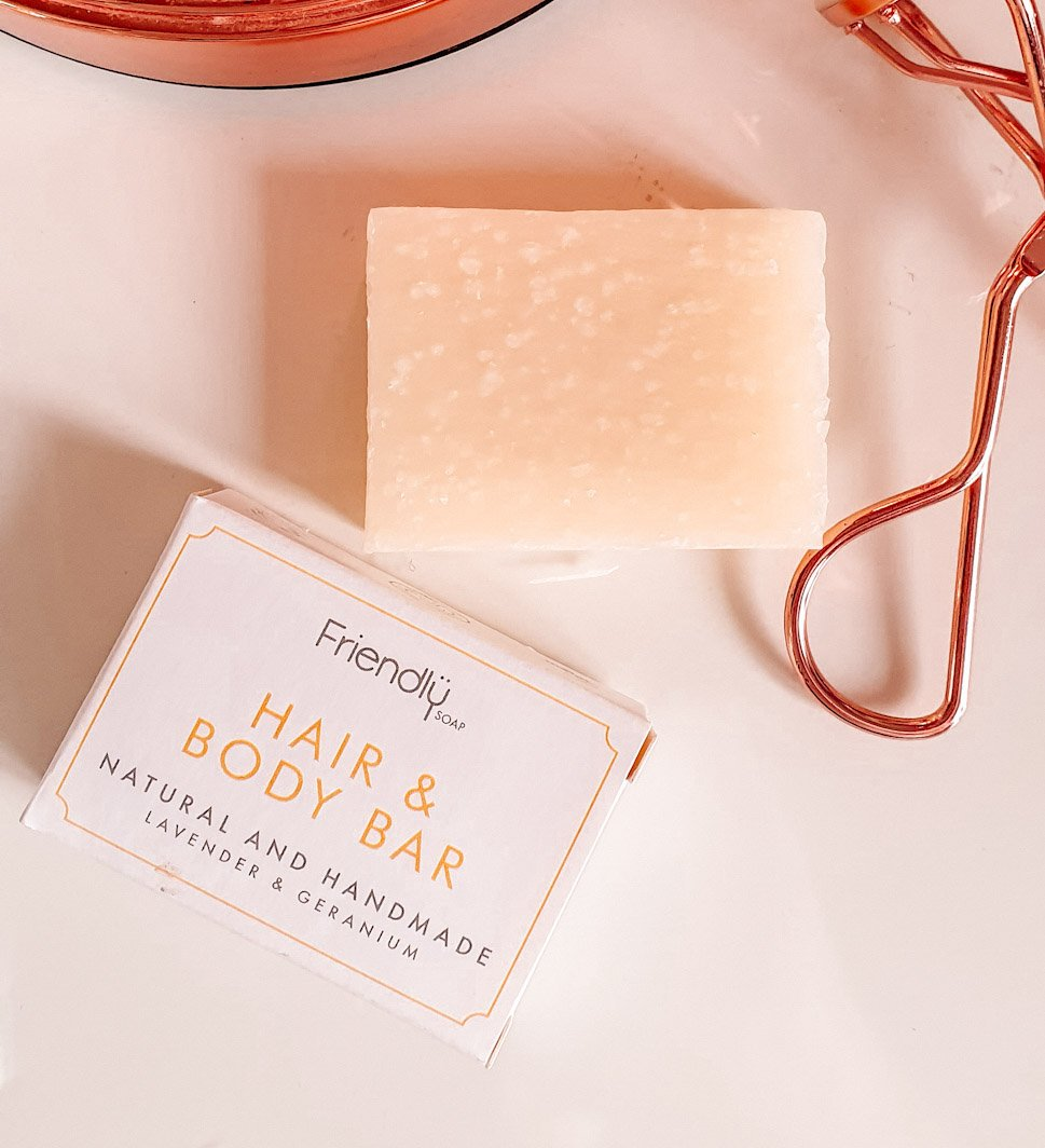 Friendly Soap Lavender and Geranium Hair and Body Bar