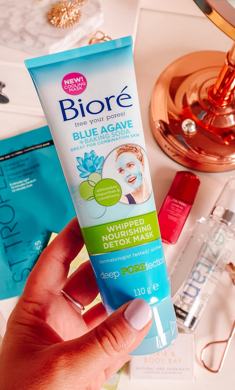 Biore Blue Agave & Baking Soda Whipped Nourishing Detox Mask